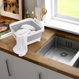 Collapsible Dish Tub with Draining Plug