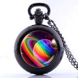 2017 Rainbow Planet Pocket Watch Necklace