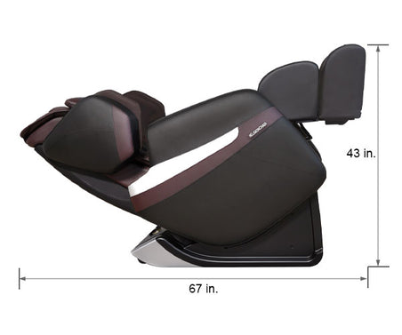Relaxonchair MK-Classic Brown Dimension Reclined