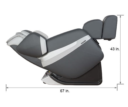 Relaxonchair MK-Classic Gray Dimension Reclined