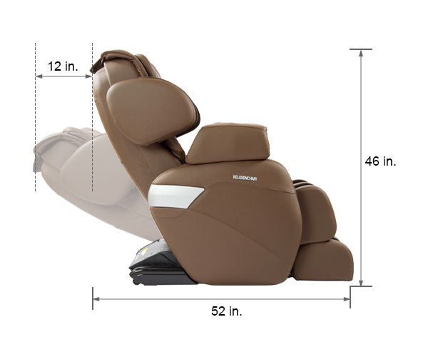 Relaxonchair MK-II Brown Dimension Upright