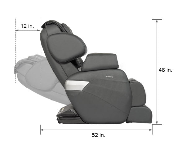 Relaxonchair MK-II Gray Dimension Upright