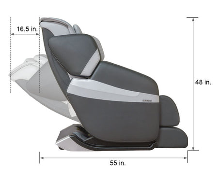 Relaxonchair MK-Classic Gray Dimension Upright