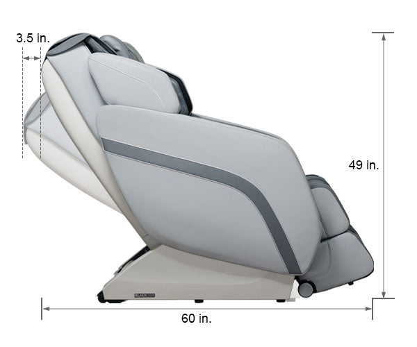 Relaxonchair MK-V Gray Dimension Upright