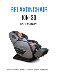 Massage Chair, Relaxonchair ION-3D Full Body Massage Chair User Manual