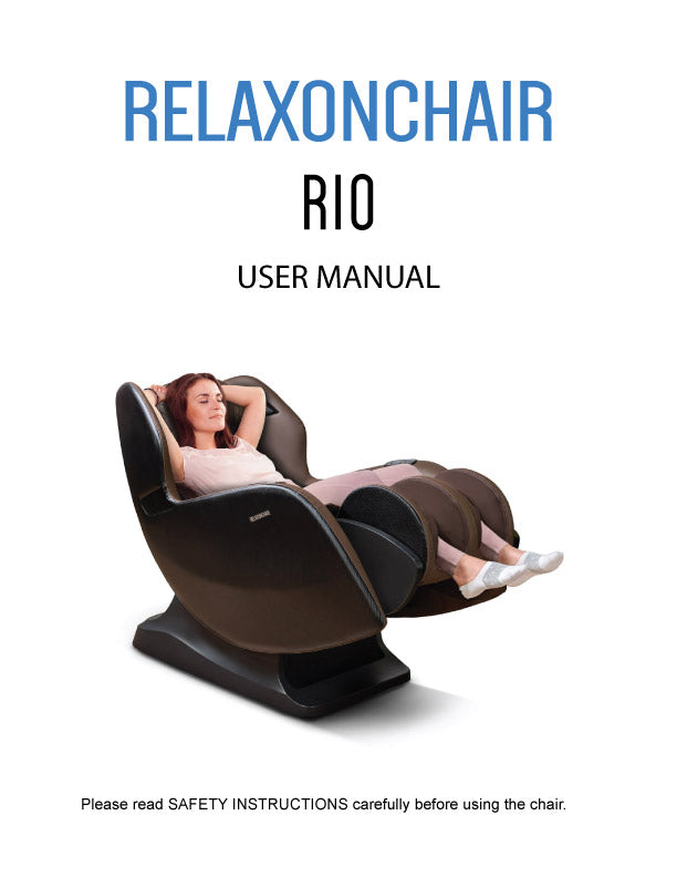 Massage Chair, Relaxonchair RIO Massage Recliner Chair User Manual