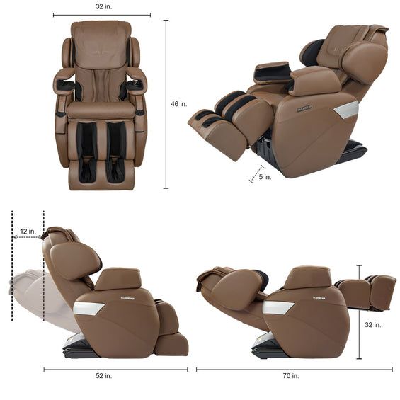MK-II Plus Full Body Massage Chair Chocolate - Dimension
