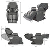 MK-II Plus Full Body Massage Chair Charcoal - Dimension