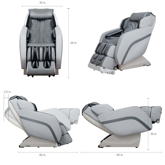 MK-V Plus Full Body Massage Chair Gray - Specification