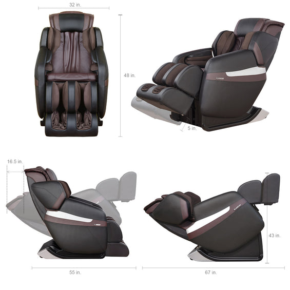 MK-Classic Massage Chair Brown - dimension specification