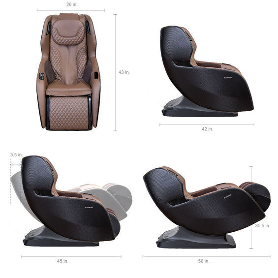 Relaxonchair RIO Full Body Massage Recliner Chair - Dimension