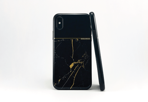 Bourge Design Black Marble Bourge Marble iPhone X Case
