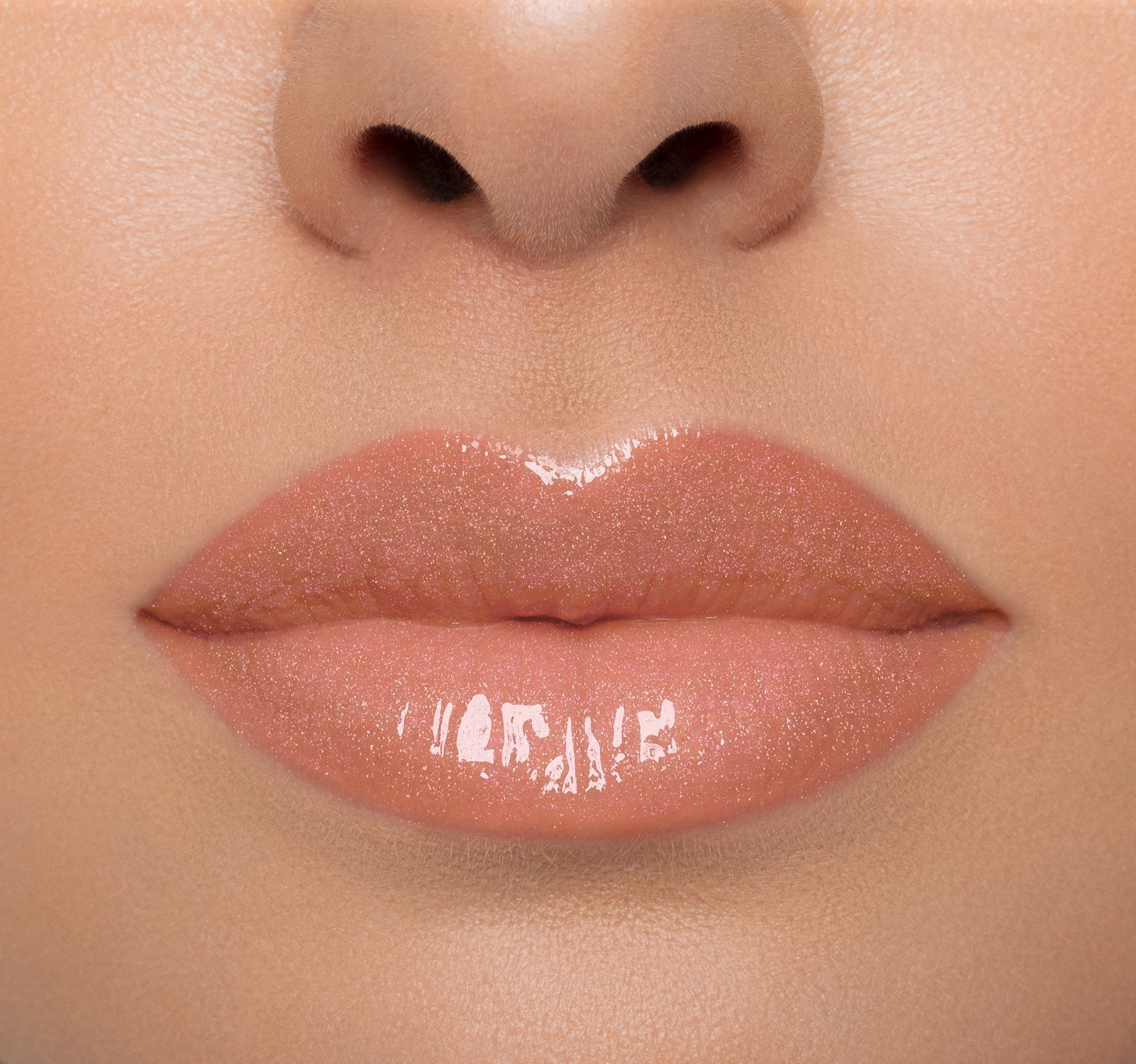 LIP GLOSS - SHIMMY ON LIGHT COMPLEXION MODEL, view larger image