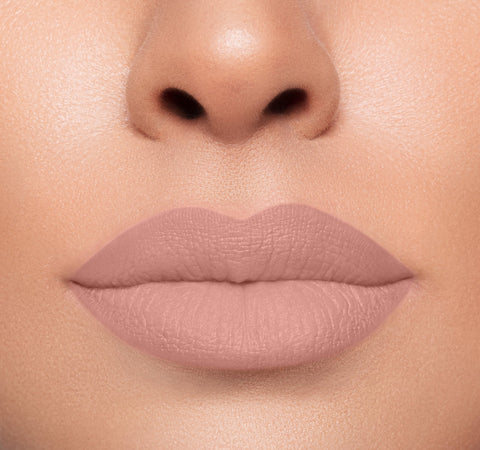 MEGA MATTE LIPSTICK - BARE ALL ON MODEL