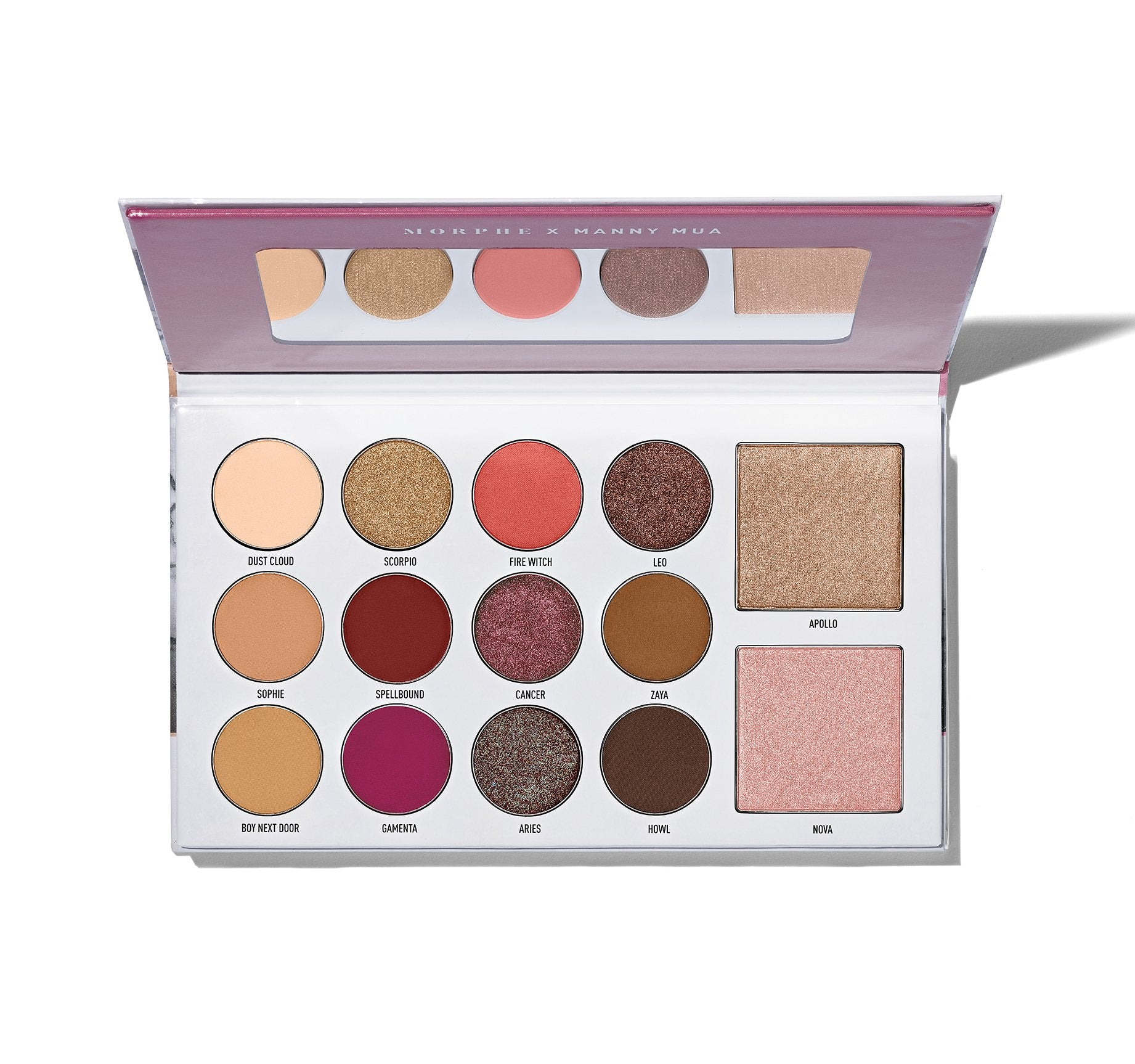 MORPHE X MANNY MUA GLAM PALETTE EYESHADOW + HIGHLIGHTER PALETTE, view larger image