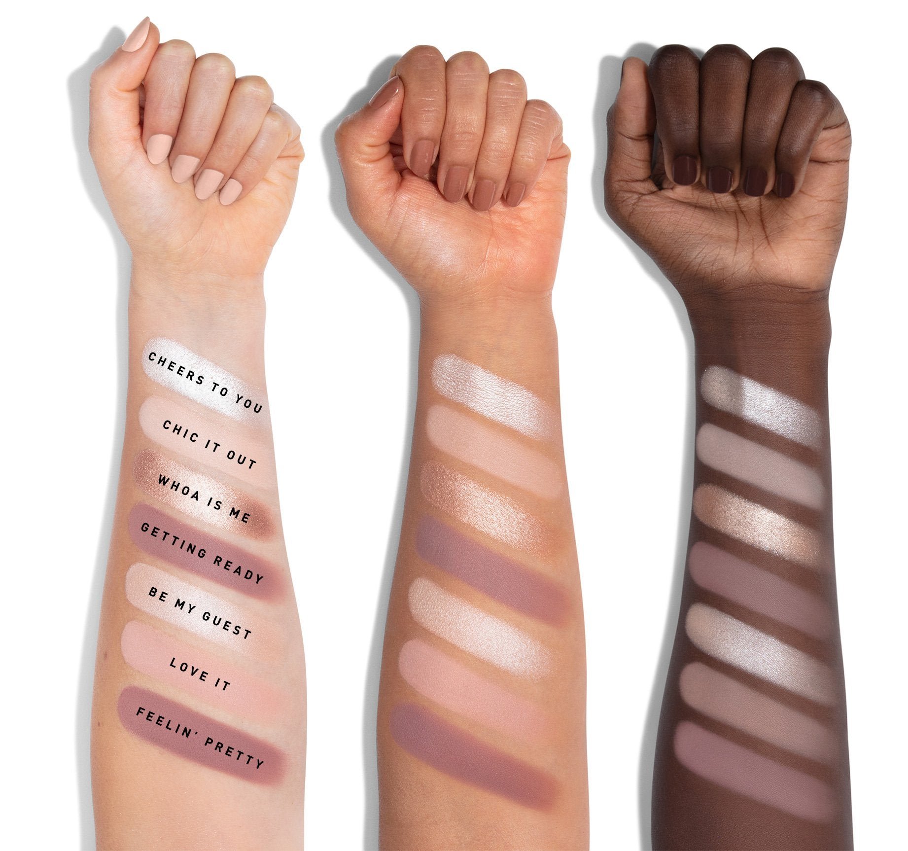 35C EVERYDAY CHIC ARTISTRY PALETTE ARM SWATCHES, view larger image