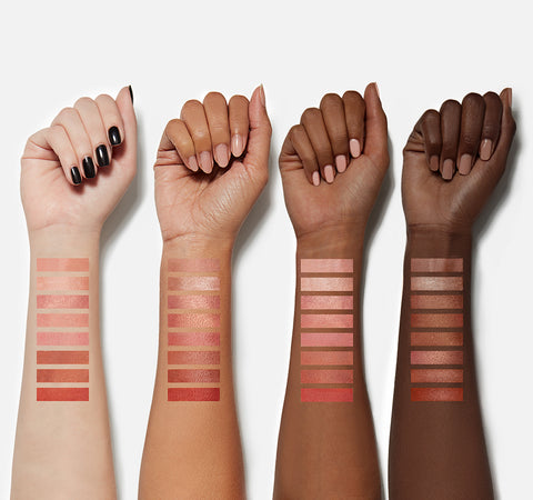 8W WARM MASTER BLUSH PALETTE ARM SWATCHES