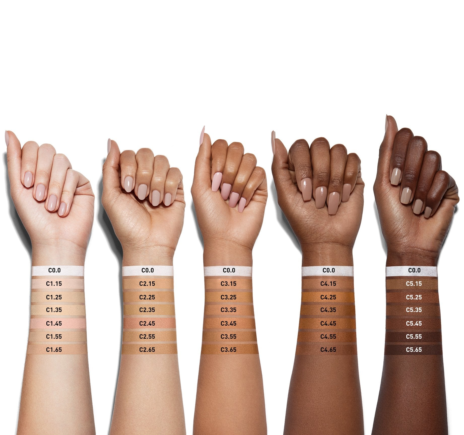 FLUIDITY FULL-COVERAGE CONCEALER - C3.65 ARM SWATCHES, view larger image