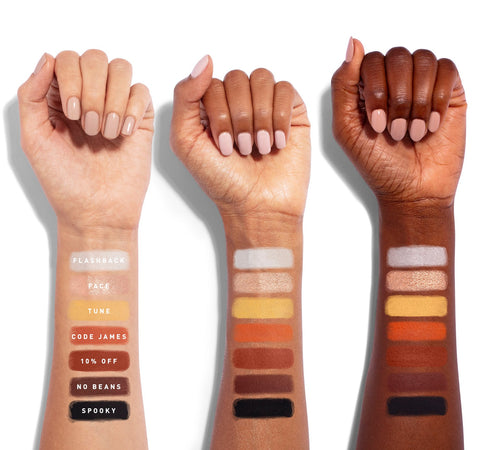 THE JAMES CHARLES PALETTE ARM SWATCHES