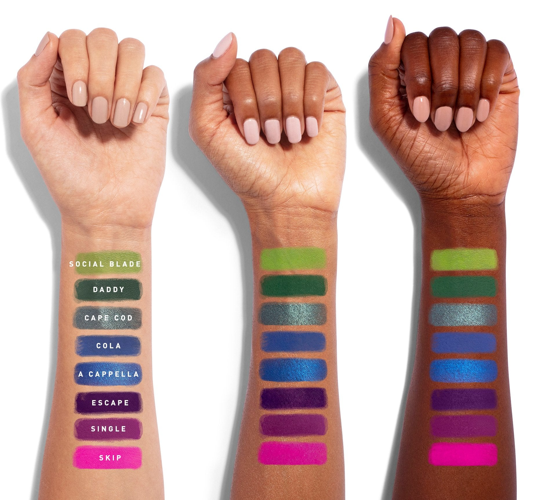THE JAMES CHARLES PALETTE ARM SWATCHES, view larger image