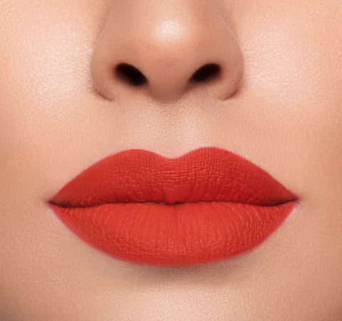 MEGA MATTE LIPSTICK – TEASE ON FAIR COMPLEXION MODEL