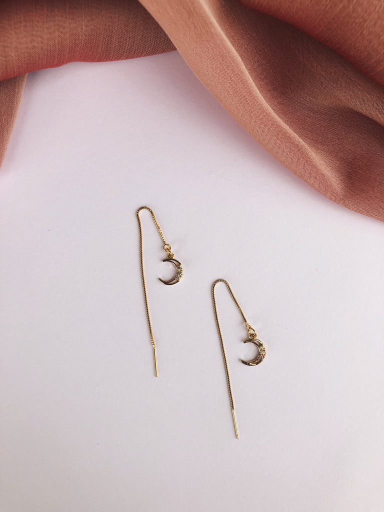Crescent Threader Earrings