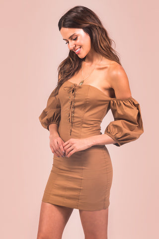 Vestido Magic Hour Caramelo