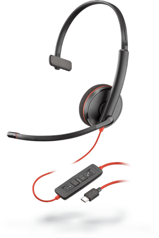 Plantronics Blackwire 3210 USB Type-C Corded Monaural UC Headset