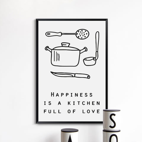 Kitchen Quotes Canvas Collection - CHIMPONTEE