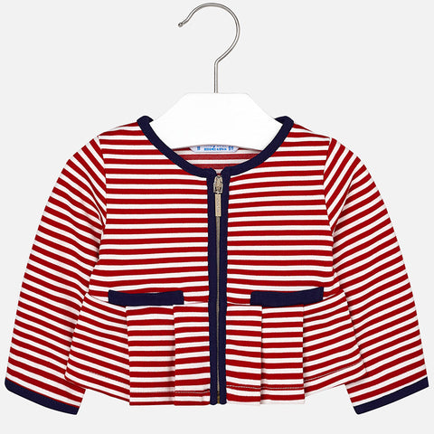 Knitted stripe jacket