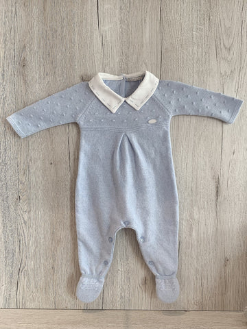 Knit babygrow for baby boy
