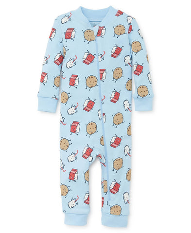 Cookies & Milk Zip Front Pajama