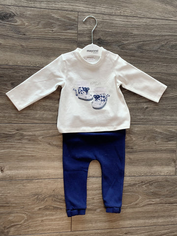 T-shirt newborn with legging for baby girl