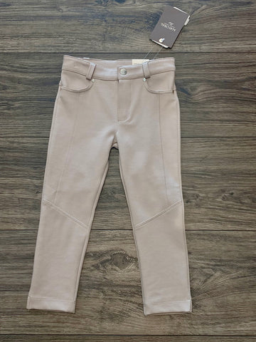 Beige jeggings for girls