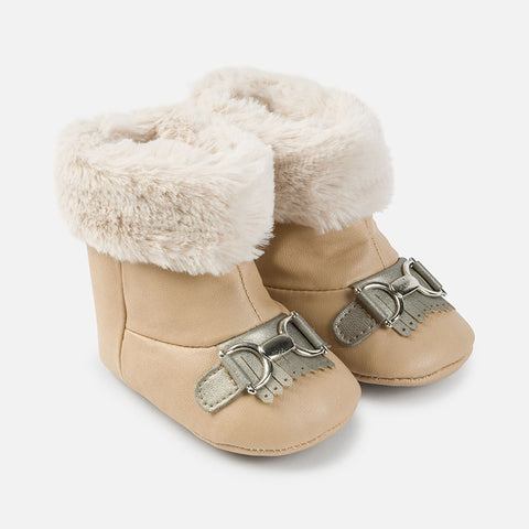 Leatherette Faux Fur Boots