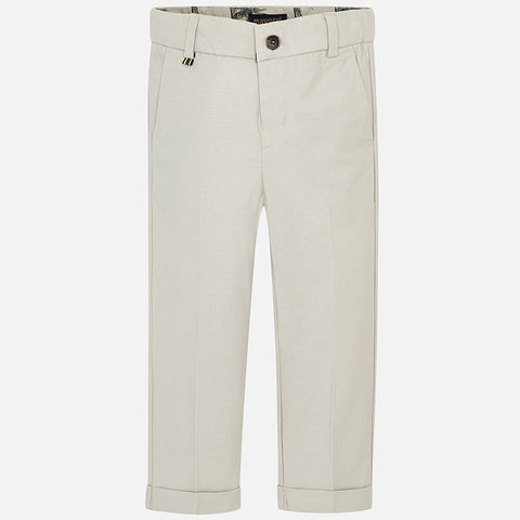 Linen suit pants for boy