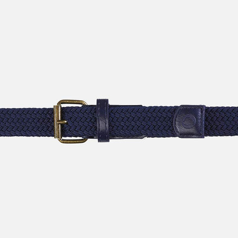 Plaited elasticated belt
