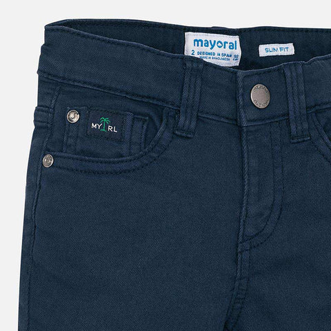 Slim fit pants with detailing