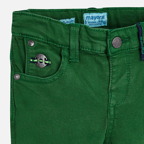 Stretchy twill trousers for boy Slim fit