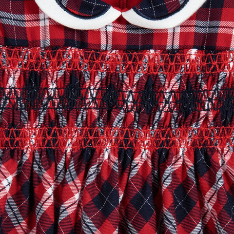 Red Tartan Dress with collar