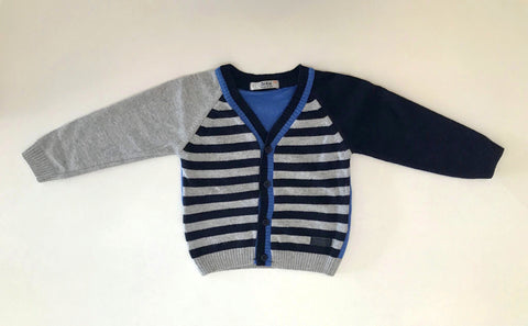 Cardigan with stripes