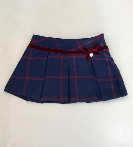 Pleated Skirt With Bow