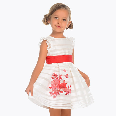 Formal striped dress for girl