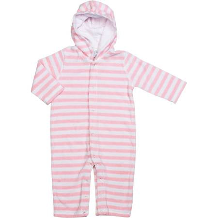 Terrycloth  One Piece Stripe Pink