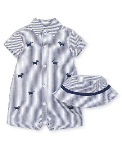Top Doggy Button-Down Romper