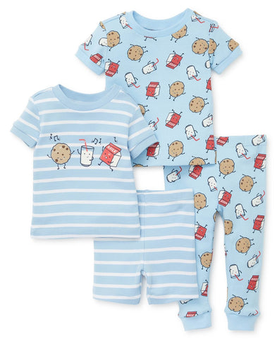 Cookies and milk toddler two pajama set