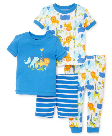 Safari toddler two pajamas set