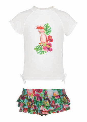 Tropical Birds Ruffle Set