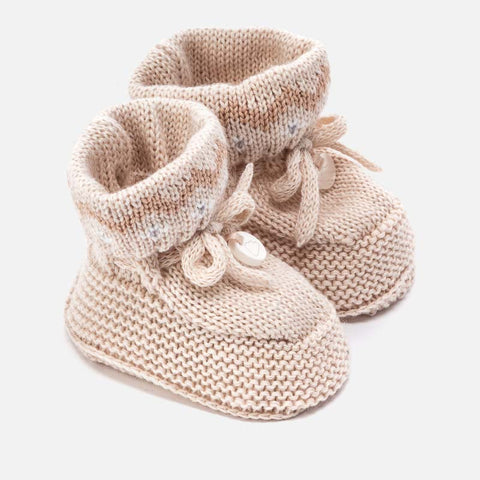 knit baby boy bootie