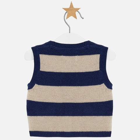 Striped vest for baby boy